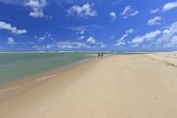 Couple on Beach, Praia da Barra de Gramame, Joao Pessoa, Paraiba, Brazil