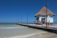 Beach Hut and Dock, Isla Holbox, Quintana Roo, Mexico