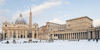 St Peter's Square and St Peter's Basilica in Winter, Vatican City, Rome, Lazio, Italy