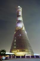 Aspire Tower at Night, Doha, Qatar