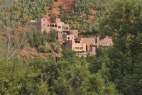 Kasbah in Ourika Valley, Atlas Mountains, Morocco