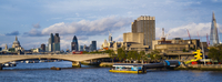 Festival Pier and Waterloo Bridge over River Thames, London, South Bank , England