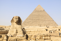 Great Sphinx and Pyramid of Khafre, Giza, Egypt