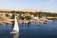 Felucca near Elephantine Island on River Nile, Aswan, Egypt
