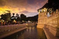 Temple of the Tooth during Kandy Perehera Festival, Kandy, Sri Lanka