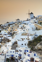 View of Oia at Sunset, Santorini Island, Greece