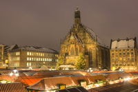 Frauenkirche at Night during Christkindlesmarkt, Nuremberg, Germany
