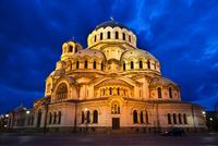 Alexander Nevsky Cathedral at Night, Sofia, Bulgaria