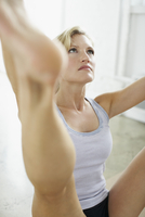 Woman in Upright Seated Angle Pose