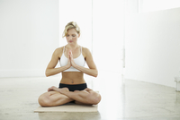 Woman in Seated Lotus Position
