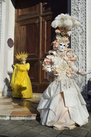 Women in Costume During Carnival, Venice, Italy