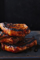 Stack of Barbequed Porkchops