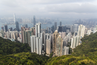 Overview of City from Victoria Peak, Hong Kong, China