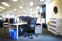 view of empty office cubicle work station