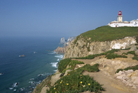 Lighthouse and coast at Cabo da Roca, the most westerly point of continental Europe, Portugal, Europe