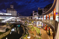 Naha City Center at Night, Okinawa Island, Okinawa Prefecture, Japan