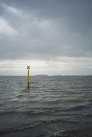 Channel Marker Sign in Morbihan Gulf, Brittany, France