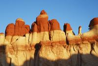 Sandstone erosion landscape in Blue Canyon - USA, Arizona, Blue Canyon - Sunset