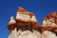 Sandstone erosion landscape in Blue Canyon - USA, Arizona, Blue Canyon - Afternoon