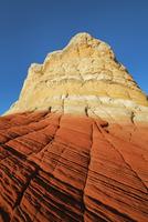 Sandstone erosion landscape in White Pocket - USA, Arizona, Vermillion Cliffs, White Pocket - Afternoon