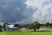 Summer Storm Passing over Old Barn near Stirling, Ontario, Canada