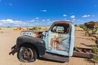 Abandoned truck, Solitaire Village, Khomas Region, near the Namib-Naukluft National Park, Namibia, Africa