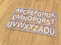 Digital Illustration of Letters in Plastic Frame