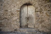 Medieval Door, Old City of Agropoli, Cilento, Salerno District, Campania, Italy