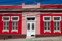 Brightly Coloured Building, Valparaiso, Chile