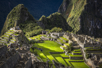 Scenic overview of Machu Picchu, Peru