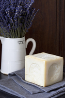 Still Life of Lavender and Block of Soap