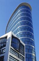 Steel and Glass Office Skyscraper in Noordruimte/Espace Nord Business District, Brussels, Belgium
