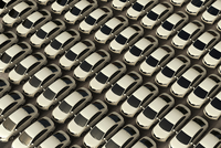 Digital Illustration of Overhead View of Rows of Cars for Sale