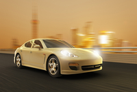 Digital Illustration of Sport Luxury Car in Motion, Shanghai, China