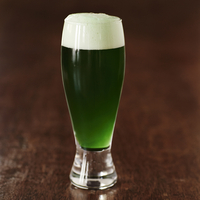 Glass of Green Beer, Studio Shot