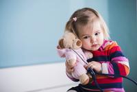 Portrait of Baby Girl in Doctor's Office