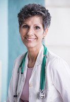 Portrait of Doctor with Stethoscope in Doctor's Office