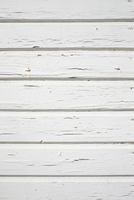 Close-up of White Painted Wooden Wall
