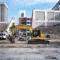 Demolition Site, downtown Toronto, Ontario, Canada