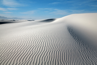 Gypsum desert sand dunes, White Sands, Otero, New Mexico, USA