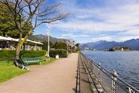 Promenade at Lakefront in Spring, Lago Maggiore, Stresa, Piedmont, Italy
