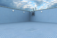Digital Illustration of Empty Swiming Pool