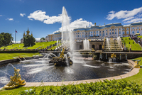 Samson Fountain and the Grand Cascade, Peterhof Palace, St. Petersburg, Russia