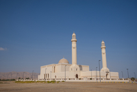 White Mosque with Clear Blue Sky, Sur, Oman