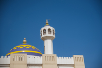 Dome and Tower of Mosque against Blue Sky, Muscat, Oman