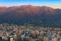 Santiago de Chile with Andes Mountains in the background, Santiago, Chile