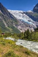 Boyabreen Glacier near Mundal in Fjaerland, Sogn og Fjordane, Norway
