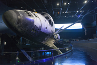 Spaceship on display at Kennedy Space Center, Cape Canaveral, Florida, USA