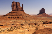 Scenic landscape with Mitten Buttes, Monument Valley, Arizona, USA