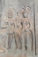 Relief sculpture of Apsara dancers, Angkor Wat Temple complex, UNESCO World Heritage Site, Angkor, Siem Reap, Cambodia, Indochin